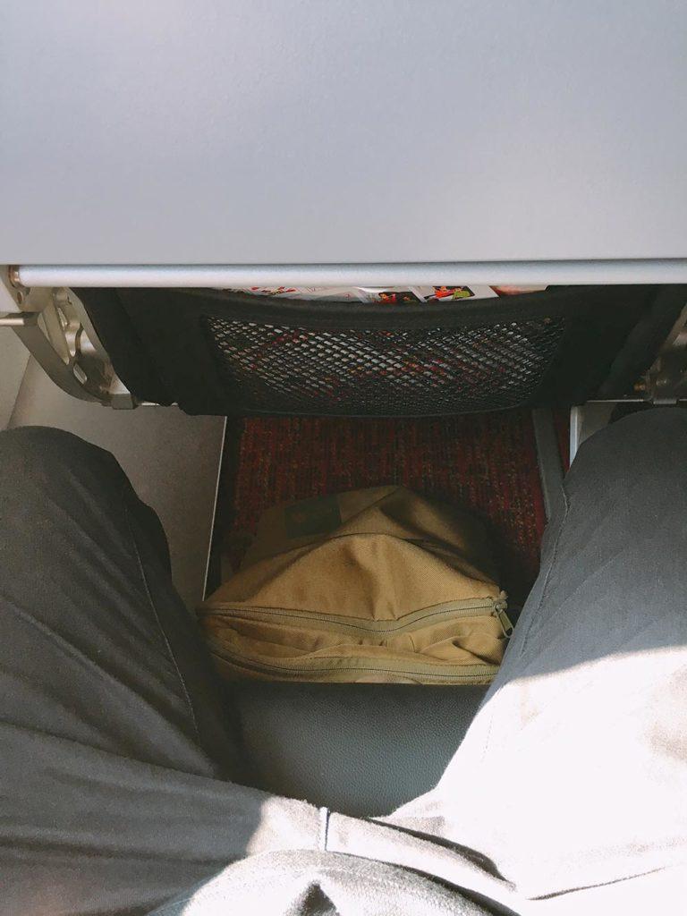 ベットジェットエアの機内の様子